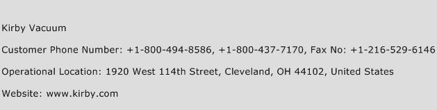 Kirby Vacuum Phone Number Customer Service