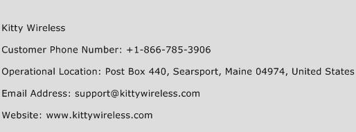 Kitty Wireless Phone Number Customer Service