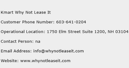 Why Not Lease It Phone Number >> Kmart Why Not Lease It Customer Service Phone Number Contact