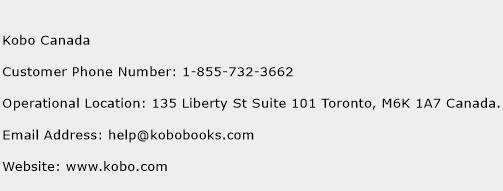 Kobo Canada Phone Number Customer Service