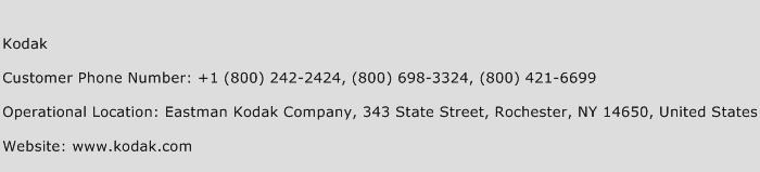 Kodak Phone Number Customer Service