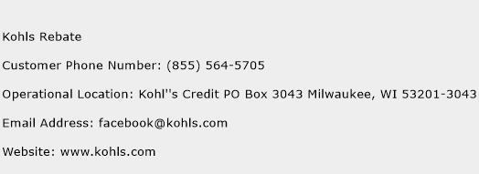 kohl's toll free number  »  8 Picture » Creative..!
