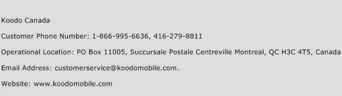 Koodo Canada Phone Number Customer Service