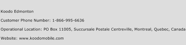 Koodo Edmonton Phone Number Customer Service