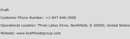 Kraft Phone Number Customer Service