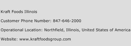 Kraft Foods Illinois Phone Number Customer Service