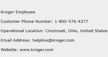 Kroger Employee Phone Number Customer Service