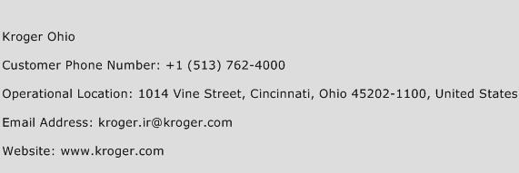 Kroger Ohio Phone Number Customer Service