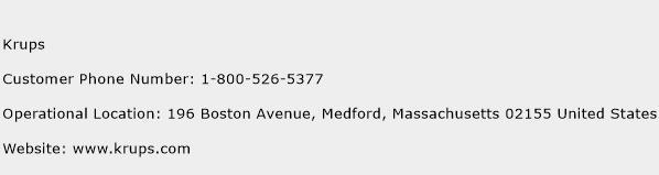 Krups Phone Number Customer Service