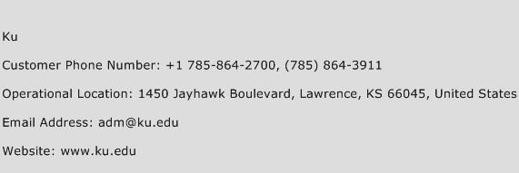 Ku Phone Number Customer Service