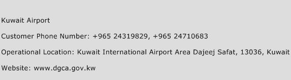 Kuwait Airport Phone Number Customer Service