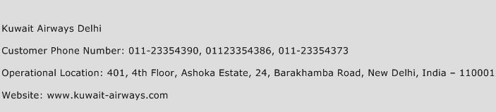Kuwait Airways Delhi Phone Number Customer Service