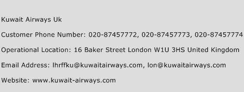 Kuwait Airways Uk Phone Number Customer Service