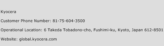 Kyocera Phone Number Customer Service