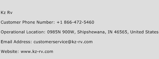 Kz Rv Phone Number Customer Service