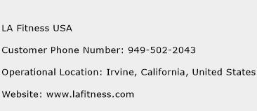 LA Fitness USA Phone Number Customer Service