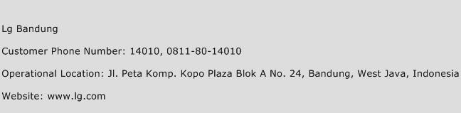 LG Bandung Phone Number Customer Service