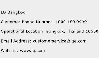 LG Bangkok Phone Number Customer Service