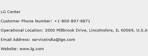 LG Center Phone Number Customer Service