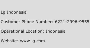 LG Indonesia Phone Number Customer Service