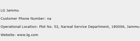 LG Jammu Phone Number Customer Service