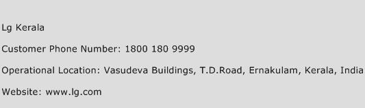 LG Kerala Phone Number Customer Service