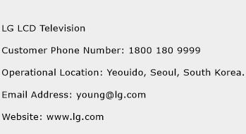 LG LCD Television Phone Number Customer Service