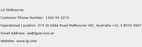 LG Melbourne Phone Number Customer Service