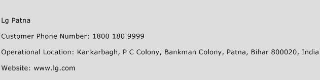 LG Patna Phone Number Customer Service