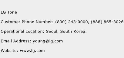 LG Tone Phone Number Customer Service