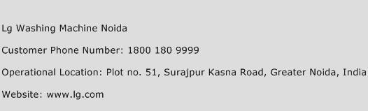 LG Washing Machine Noida Phone Number Customer Service