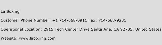 La Boxing Phone Number Customer Service