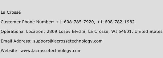 La Crosse Phone Number Customer Service