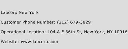 Labcorp New York Phone Number Customer Service