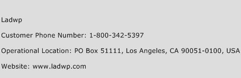 Ladwp Phone Number Customer Service