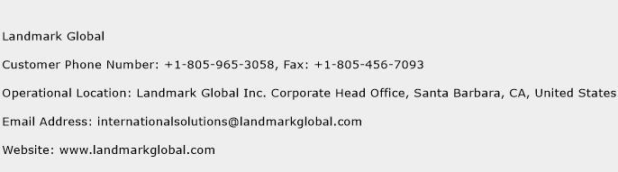 Landmark Global Phone Number Customer Service