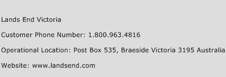 Lands End Victoria Phone Number Customer Service