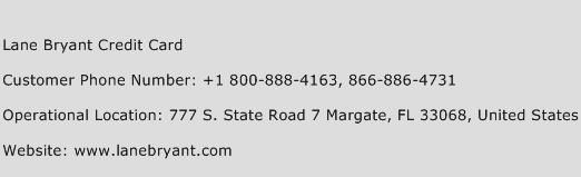 Lane Bryant Credit Card Phone Number Customer Service