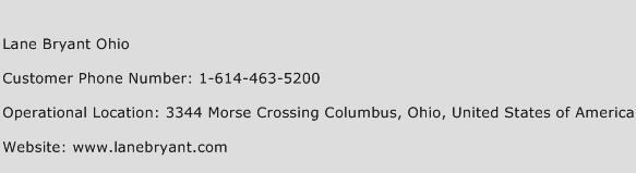 Lane Bryant Ohio Phone Number Customer Service