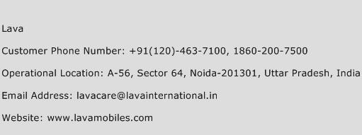 Lava Phone Number Customer Service