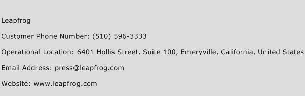 Leapfrog Phone Number Customer Service