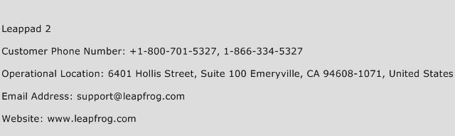 Leappad 2 Phone Number Customer Service