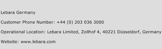 Lebara Germany Phone Number Customer Service