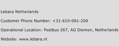 Lebara Netherlands Phone Number Customer Service