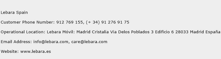 Lebara Spain Phone Number Customer Service