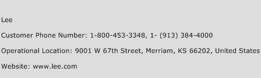 Lee Phone Number Customer Service