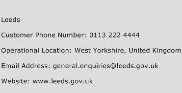 Leeds Phone Number Customer Service