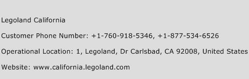 Legoland California Phone Number Customer Service