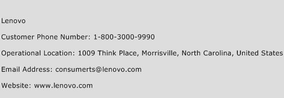 Lenovo Phone Number Customer Service
