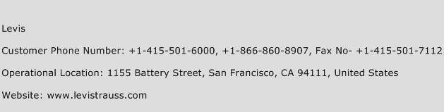 Levis Phone Number Customer Service
